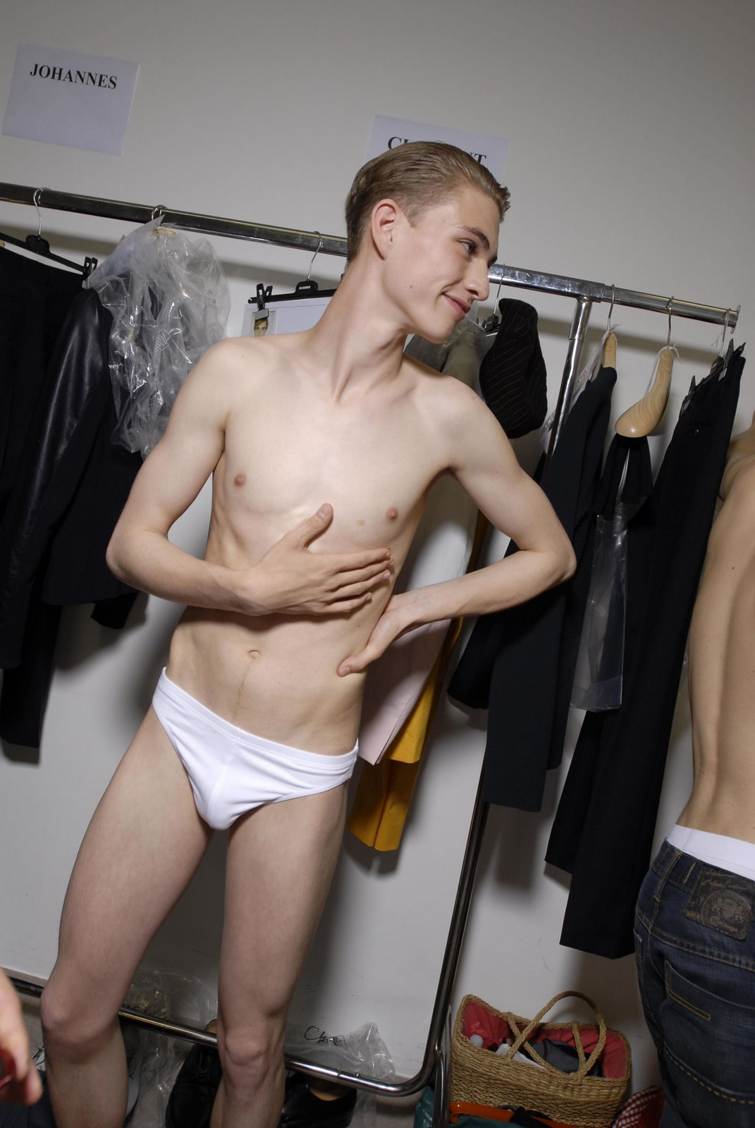 from Conor skiny nude model man